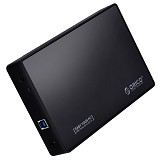 "ORICO 3.5"" & 2.5"" SATA HDD/SSD External Enclosure USB 3.0 [3588US3-BLACK] - Black - Hdd Docking"
